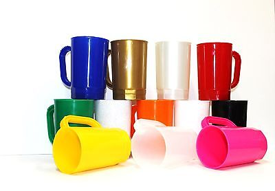 75 1 Pint Beer Mugs Wholesale Lots Mfg in USA Dishwasher Safe Choice 17 Colors