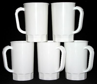 White Beer Mugs, Pack 75, Color White, Made in America, Dishwasher Safe, No BPA