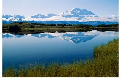 """Mt McKinley Reflected in Tundra Pond Denali NP AK"" Poster Print"