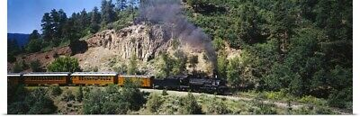 Poster Print Wall Art entitled Durango & Silverton Narrow Gauge Railroad Train