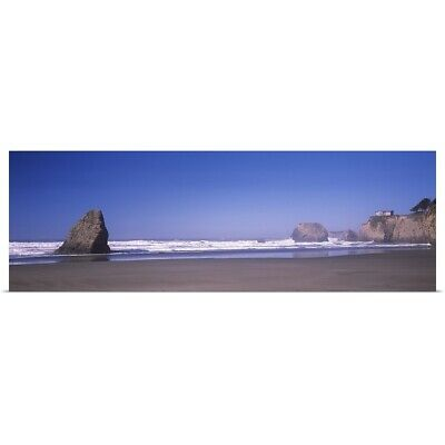 "Poster Print ""Surf on the beach, Fort Bragg, Mendocino County, California"""
