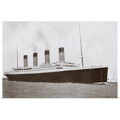 Poster Print Wall Art entitled RMS Titanic of the White Star Line