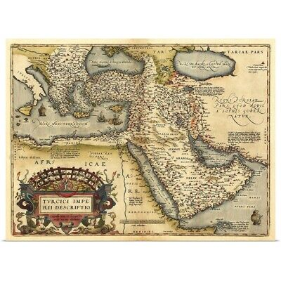 Poster Print Wall Art entitled Ortelius's map of Ottoman Empire, 1570