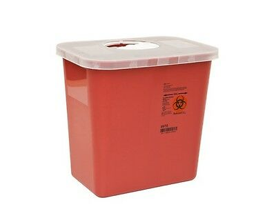 Sharps Needle Disposable Biohazard Container, 2 Gallon, Red, 8970 - 1 Pack