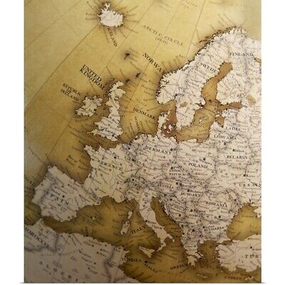 Poster Print Wall Art entitled Antique map of Europe, Old World