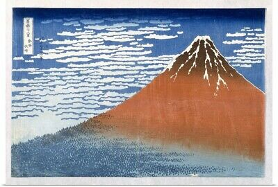 Poster Print Wall Art entitled Fuji, Mountains in clear Weather, 1831,