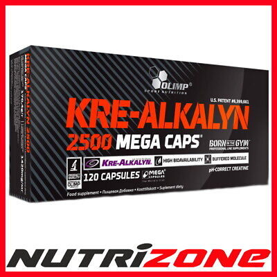 OLIMP Kre Alkalyn 2500 Mega Caps Buffered Creatine Monohydrate Performance Boost