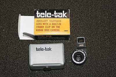 Vintage Tele-Tak Telephoto Lens for Kodak Disc Cameras in original Box
