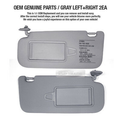 OEM Interior Hand Sun Visor Shade LH RH Gray for HYUNDAI 2007-2010 Elantra  HD fc599894a18