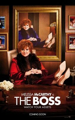 THE BOSS MOVIE POSTER 2 Sided ORIGINAL Advance 27x40 MELISSA MCCARTHY