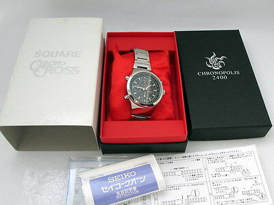 Chrono Cross Seiko Watch Japan SQUARE ENIX Official w/Box and Guarantee