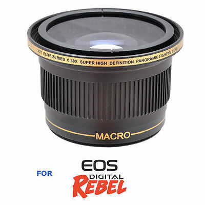0.58mm X38 Wide Angle Fisheye Lens for Canon EOS Rebel T3 T3I T4 T4I T5 T5I 6D
