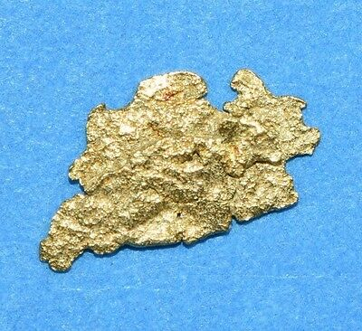 Alaskan-Yukon BC Natural Gold Nugget 0.12 Grams Genuine From Special Lot