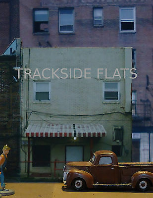 #303 O scale background building flat  BACKSIDE #3.1   FREE SHIPPING