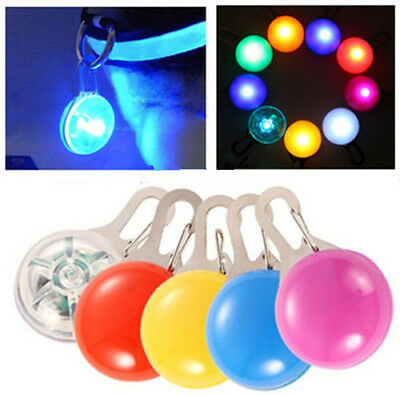 Fancy Cool LED Flashing Collar Safety Night Light Pendant For Pet Dogs Cat Puppy