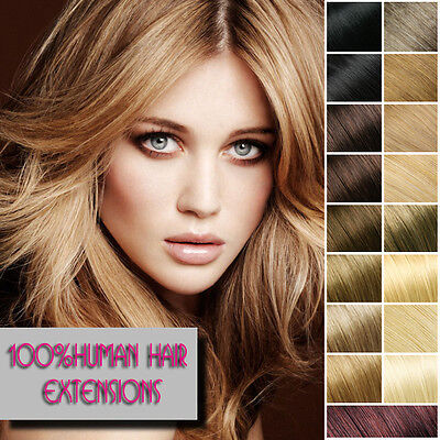 100% Real Human Hair Extensions Full Head 8pcs Remy Clip in Hair Extensions