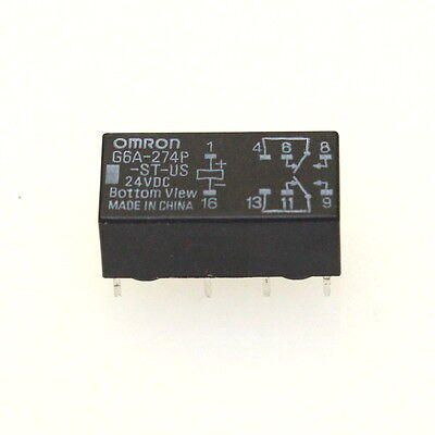 OMRON G6A-274P-ST-US-24VDC Relay New Lot Quantity-5