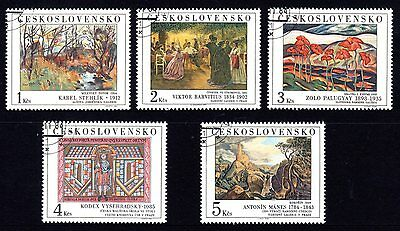 Czechoslovakia 1984 Art 18th Series Set 5 CTO