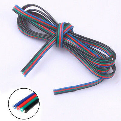 1M 5M 10M PIN Extension Connector Wire Cable Cord for RGB 5050 3528 Led Strip