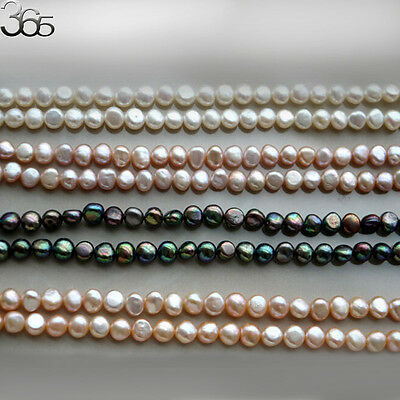 10 Strands Natural 6-7mm Freeform Biwa Baroque Freshwater Pearl Beads Strand 15""