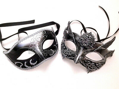 Couple Silver Gold Masquerade Ball Mask Steampunk Prom Costume Dance up Party