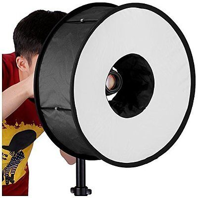 Neewer 45 cm Round Universal Collapsible Magnetic Ring Flash Diffuser Soft Box