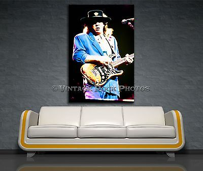 Stevie Ray Vaughan Canvas Giclee Print Framed Photo 20x30 in Fine Art Gallery 45