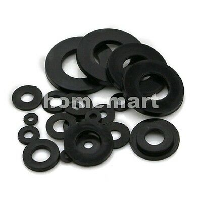 M2 - M20 Plastic Nylon Washers Insulated Washer flat gasket pad mat Bolts Black