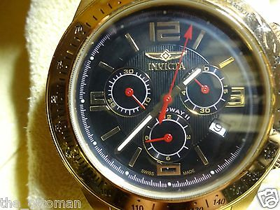 INVICTA Men's Speedway Collection Gold Chronograph Tachometer Watch-Gift Boxed!!