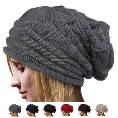 New Unisex Thinsulate Knitted Wooly Chunky Thermal Beanie Outdoor Winter Ski Hat