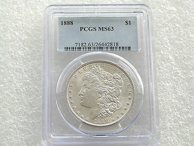1888 United States Morgan $1 One Dollar Silver Coin PCGS MS63