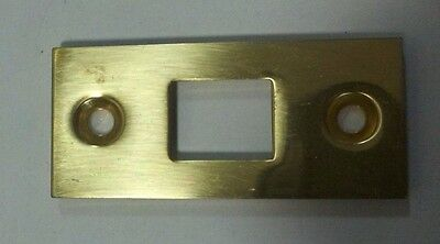 "Decorlux 2.25"" 003 Mortise Bolt Front Door Strike Plate POLISHED BRASS"