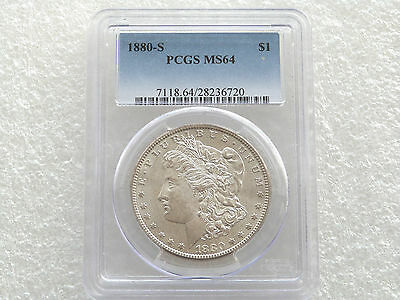 1880-S United States Morgan $1 One Dollar Silver Coin PCGS MS64 San Francisco