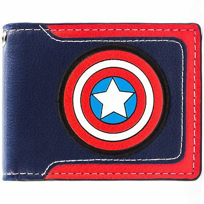 New Official Awesome Captain America Avengers Sheild Bi-Fold Wallet