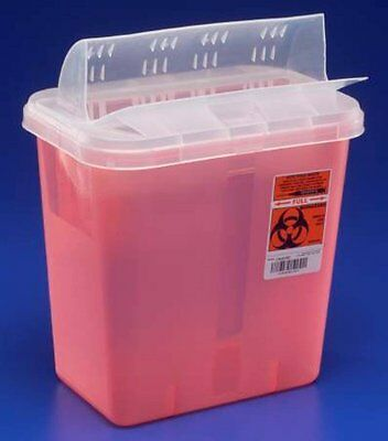 Sharps Container, 2 Gallon, Translucent Base, Horizontal Entry Lid, 89671 - Each