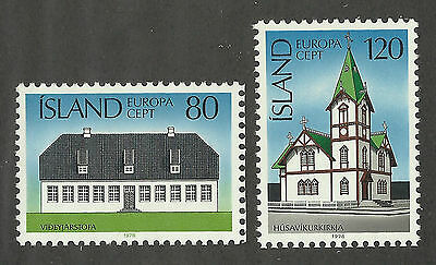 Iceland 506-507 (1978) MNH/OGnh XF/S to S {Arcitecture} Set of 2