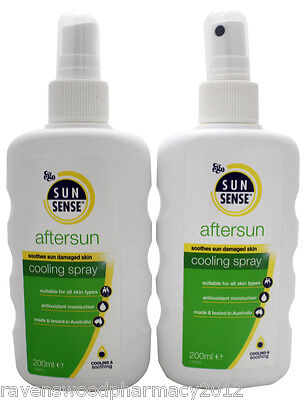 2 x Ego SunSense After Sun Cooling Spray 200mL ::Soothes Sun Damaged Skin::