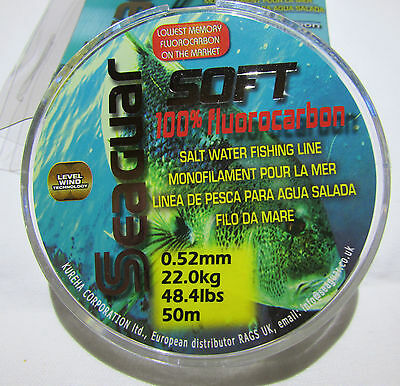 Fluorocarbon SEAGUAR SOFT 100% Invisible Fishing Line Made in Japan