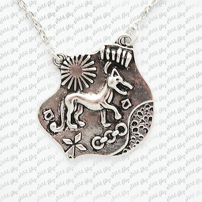 collana teen wolf wolf alison silver cosplay gadget nuovo new necklace halskette
