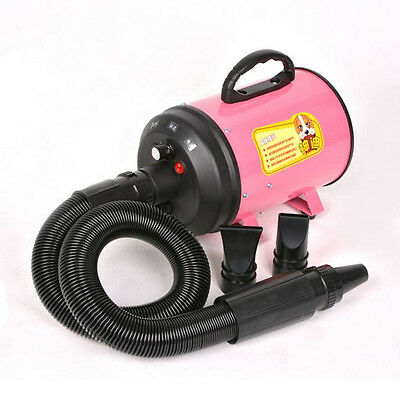 Portable Dog Cat Pet Grooming Hair Dryer Pet Hairdryer Machine Pink 220V 2800W