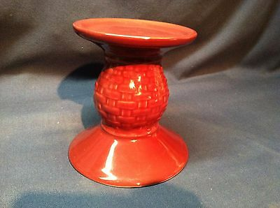 """Longaberger Woven Traditions 5"""" Paprika Piller Candle Holder Excellent Condition"""