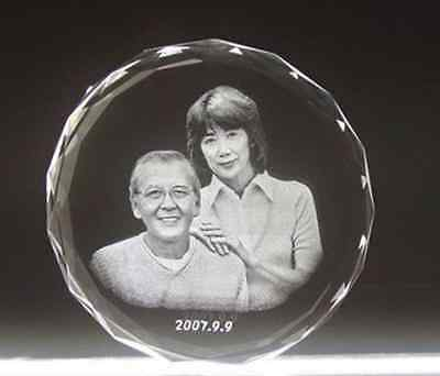 Custom Personalized Laser Etched Engraving Crystal Glass Photo Frame Birthday