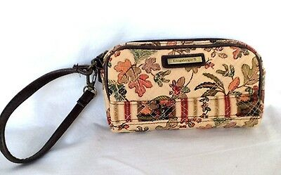 AUTUMN PATH Purse Longaberger Fabric clutch wristlet NEW