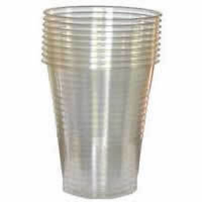 Clear Plastic 7oz Disposable Cups Drinking Water Coolers Glass Vending Style Cup