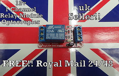 12V 1 Channel Relay Module Opto Isolated board for Arduino and MCU projects