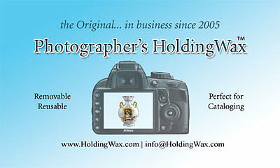 The ORIGINAL Photographer's Holding Wax for props, displays, photo boxes & more