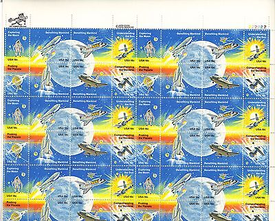 USA-United States 1981 18c Postage Space Achievements Sheet Scot 1912-8 MNH