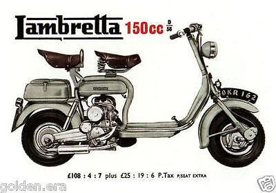 LAMBRETTA INNOCENTI - Collectors Card Set - TV175 D 150cc GT200 150LD Li models