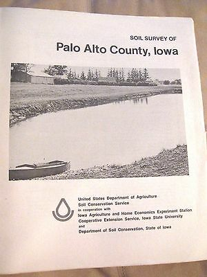 1977 Palo Alto County, Iowa Soil Survey - Fold Out maps - Color General Soil Map