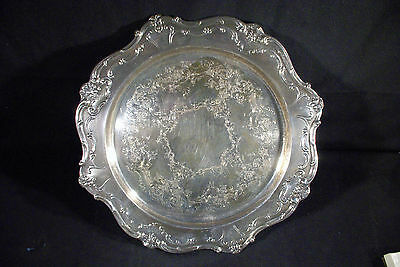 """GORHAM SILVER CHANTILLY TRAY"" #YC 1334 TEA CAKE COOKIE SERVING PLATE - 15"" inch"